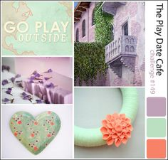These colors make my eyes happy. crafty goodies: The Play Date Cafe Challenge #149~