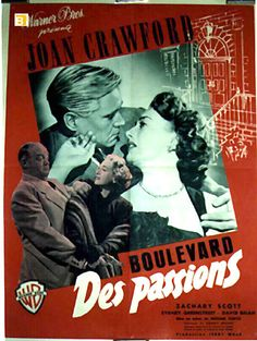 """""""BOULEVARD DES PASSIONS"""" MOVIE POSTER - """"FLAMINGO ROAD"""" MOVIE POSTER"""