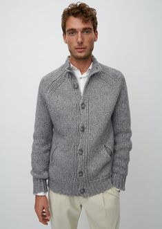 Marc O'Polo Christmas 2019 Collection Men's Sweaters, Cable Knit Sweaters, Cardigans, Green Christmas, Christmas 2019, Top Male Models, The Fashionisto, Grey Cardigan, Men's Style