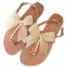 Beach Wedding Sandals. Wedding Sandals. Bridesmaid Sandals. Flat... (4.890 RUB) ❤ liked on Polyvore featuring shoes, sandals, flat evening shoes, flat sandals, bridal shoes flat sandals, wedding shoes sandals and bohemian wedding shoes