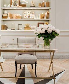 Brass & glass desk