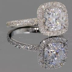 Park Avenue Halo Engagement Ring