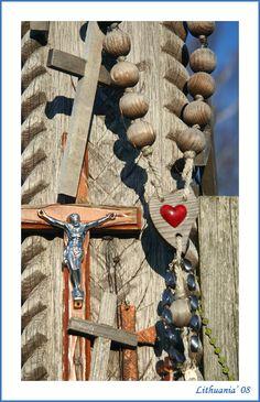 Cross and heart - Hill of the Crosses, Siauliu