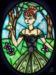 Stained Glass Anna by CallieClara on DeviantArt