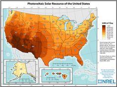 Solar Energy, Solar Power, Solar Calculator, Solar Solutions, Renewable Sources Of Energy, United States Map, Meteorology, Diy Solar, Wind Power