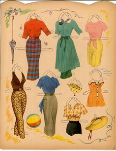 Debbie Reynolds Paper Doll Book 12 Pages Of Clothes Repro Of 1958 Book