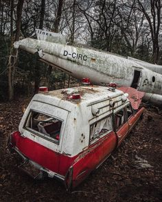 After a bit of digging, I found some info about this scene. The plane and ambulance have no mutual history except that they were scrapped (not crashed) in the same place.  Between the video and the comments, you can learn more here: https://www.youtube.com/watch?v=MO4i20AZtW4 Photo credit: @abandoned_addiction on Instagram