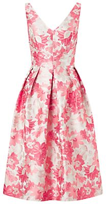 Miss Selfridge Jacquard Prom Dress, Pink