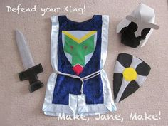 Sinful Sweets & Sewing: Day Boy Dress Up& - Sewing Projects For Kids, Sewing For Kids, Diy For Kids, Sewing Crafts, Craft Projects, Crafts For Kids, Craft Ideas, Dress Up Outfits, Diy Dress