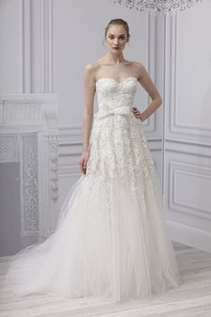 Monique Lhuillier Spring 2013 wedding dress- very romantic