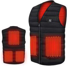 Usb, Thermal Jacket, Cotton Vest, Body Warmer, Neck Warmer, Pet Home, Outdoor Woman, Vest Jacket, Smartwatch