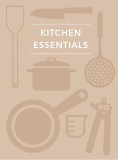 The basics for setting up your kitchen