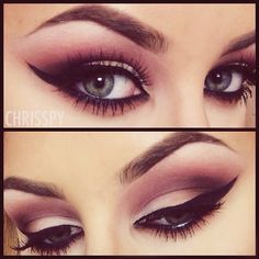 MAC Saddle, Gesso, Swiss Chocolate, and Carbon shadows on the lid. And ardell wispies lashes  (Love those eyes by chrisspy)
