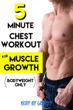 Grow your chest in only 5 minutes with this fast home workout! Grow your chest in only 5 minutes with this fast home workout! Chest Workout For Men, Home Workout Men, At Home Workouts, Workout Plans, Workout Routines, Men's Chest Workouts, Home Chest Workout, Bike Workouts, Swimming Workouts