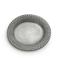 Oval platter Bubbles, Ø35 cm, grey