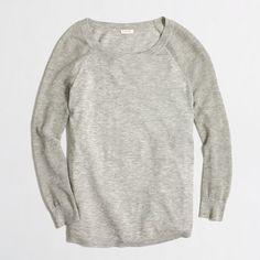 Factory merino mesh-sleeve sweater
