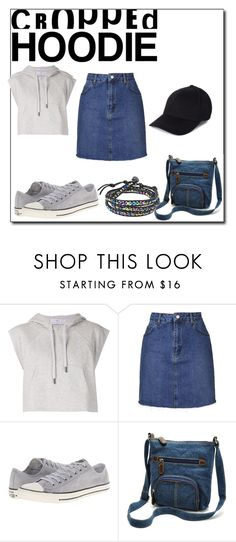 """""""Hobo Hoodie Chic"""" by fancyem ❤ liked on Polyvore featuring adidas, Topshop, Converse, AeraVida and CroppedHoodie"""