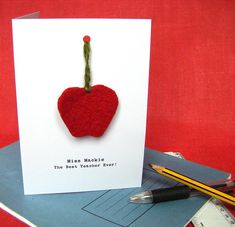Personalised Apple For The Teacher Card from notonthehighstreet.com