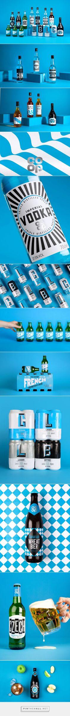 Co-op Beers, Ciders and Spirits packaging design by Robot Food - https://www.packagingoftheworld.com/2018/06/co-op-beers-ciders-and-spirits.html