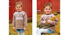 Skole og barnehagestart er like om døra. Denne genseren er inspirert av gamle skigensere myket opp med runde former.
