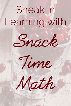 Learn how to incorporate math into your snack time. Connect with your child and lay a strong mathematical foundation, all while having fun!