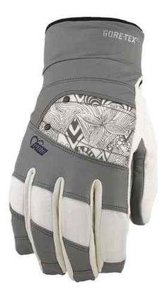 Pow Snow Gloves Women's Feva GTX Grey New 2013 Snowboard Ski Gore Tex Leather | eBay