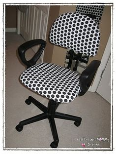 Spruce up a plain and boring office chair with a few quick and easy tips from Crafty Chic Mommy....