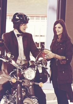 "Eleven + Clara Oswald | Matt Smith + Jenna-Louise Coleman | Doctor Who | Behind the scenes ""The Bells of St John"""