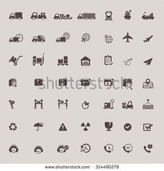 Logistic distribution, call center service, and transportation delivery icon set design, create by vector