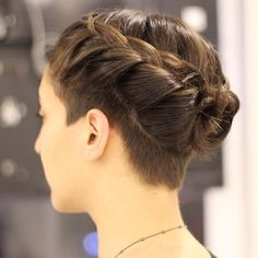 fancy plaited up do and undercut Undercut Hairstyles Women, Undercut Long Hair, Bride Hairstyles, Cool Hairstyles, Shaved Hairstyles, Undercut Braid, Undercut Pixie, Pixie Haircuts, Pixie Hairstyles