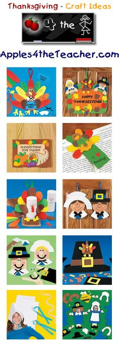 Fun Thanksgiving crafts for kids - Thanksgiving craft ideas for children.   http://www.apples4theteacher.com/holidays/thanksgiving/crafts/