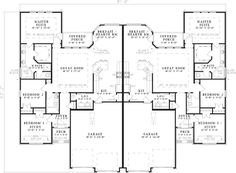Duplex house plans one story duplex floor plan bedroom duplex house design plans india bedroom duplex floor plans with garageDuplex With Center Car Garage For Privacy House Plans Find. House Plans And More, Family House Plans, Best House Plans, Country House Plans, Dream House Plans, Family Homes, The Plan, How To Plan, Duplex Floor Plans