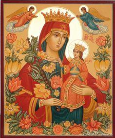 """Madonna Theotokos the Sweet Flower, attributo dato alla BVM il 22 giugno durante il Concilio di Efeso. Dal greco """"colei che genera Dio"""" in italiano Madre di Dio. Feast 11 ottobre."""