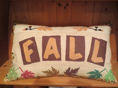 Fall Theme Pillow