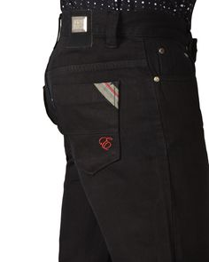 #ELEMENTJEANS #BLACK #SLIMFIT #STRETCH #DENIM #JEANS, TONAL #LEATHER PATCH WITH METAL TAB ON WAISTBAND. #EMBROIDERED #SIGNATURE #LOGO ACCENT ON POCKET & #REFLECTIVE STRIP WITH SIGNATURE TRI-COLOR TAPE ON POCKET EDGE.