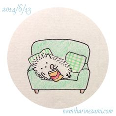 Hedgehog on sofa munching crisps Hedgehog Art, Hedgehog Drawing, Cute Hedgehog, Doodle Drawings, Cute Drawings, Animal Drawings, Hedgehog Illustration, Cute Illustration, Cute Doodles