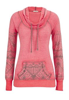 ethnic print burnwash cowl neck pullover (original price, $34) available at #Maurices