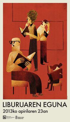 Nice :) Día del Libro 2013 by Jesus Sotes, via Behance