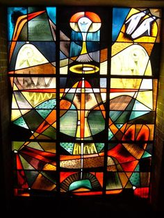Emil Frei stained glass inside the Kirkwood Methodist Church, Kirkwood, MO (where his shop still resides).