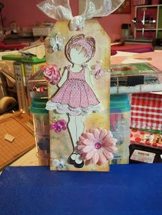 Another one of my Prima Doll Stamp Tags
