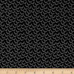 Penny Rose Trick or Treat Bats Black Fabric