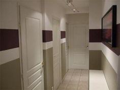 bandeau couleur couloir | DECO | Pinterest | Entry stairs