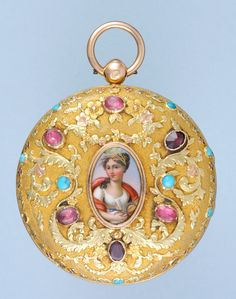 Early 19th century French verge in a decorative three colour gold case.