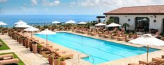 The Spa Pool at the Terranea Resort in Rancho Palos Verdes, CA. One of four pools at the luxury resort.