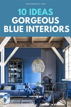 Blue is a calming and relaxing color.  But, what about an all blue interior? What would that look like? Spoiler alert! It would look amazing.    #blueinterior #bluedecor #classicblue #blueroom #roomideas #homedecorating #interiordesign #interiordecorating #interiorstyle #decoratingideas Blue Rooms, Blue Walls, Kitchen Colors, Kitchen Decor, Decorating Tips, Interior Decorating, Interior Styling, Interior Design, Living Room Decor Inspiration