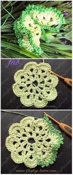 Crochet Edged 3D Butterfly Free Pattern