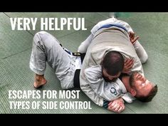 Jiu-Jitsu Escapes | Ways Out of Side Control, Scarf & Knee on Belly - YouTube