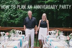 How to: Plan an Anniversary Celebration for Your Parents # Anniversary # Parents # Party . How to plan an anniversary celebration for your parents … Mom Dad Anniversary, 60th Anniversary Parties, 35th Wedding Anniversary, Anniversary Ideas For Parents, Golden Anniversary, Anniversary Celebration Ideas, Anniversary Party Centerpieces, Anniversary Surprise, 35e Anniversaire