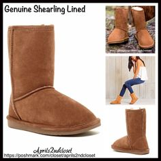 "❗️1-HOUR SALE❗️Boots Genuine Shearling Lined NEW WITH TAGS RETAIL PRICE: $ 98  Winter Short Boots Shearling Lined Booties  * Pull On style  * Genuine suede fabric & genuine shearing lamb lining  * Round Toe & exposed seams  * Soft & cozy lining and waterproof rubber sole   * 8.5"" high shaft & about a 15"" circumstance  Fabric: Genuine suede upper fabric & genuine shearing lamb upper lining Color: Brown Item:93900 ***BP Nordstrom Brand A Bound*** No Trades ✅ Offers Considered*✅ *Please use the…"