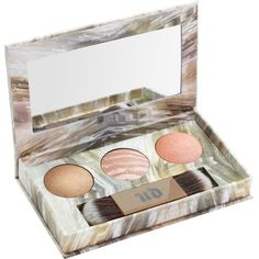 URBAN DECAY Naked Illuminated Trio ($36) ❤ liked on Polyvore featuring beauty products, makeup, face makeup, highlight makeup, urban decay cosmetics, urban decay makeup and urban decay